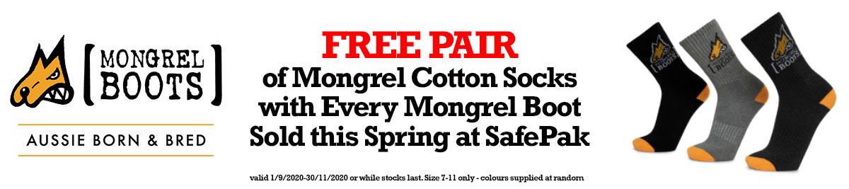mongrel socks promo